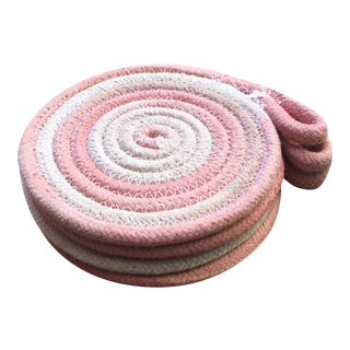 Handmade and Hand Dyed Pink Rope Coasters - Set of 4