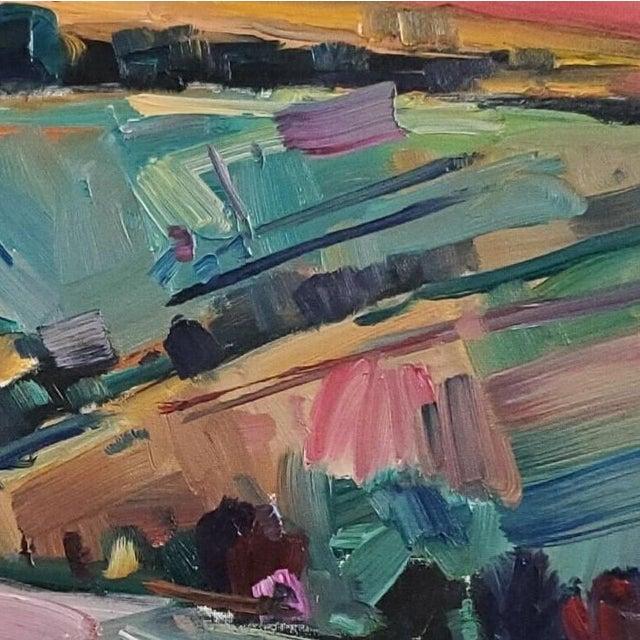 Contemporary Jose Trujillo Impressionist Hills Modernist Valley Original Artwork For Sale - Image 3 of 4