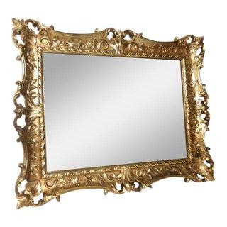 Vintage Turner Mid Century Gilt Wall Mirror For Sale