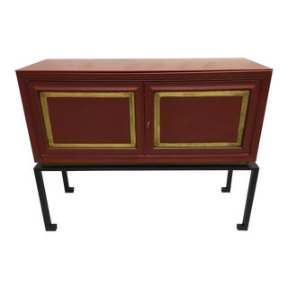 Two French Mid-Century Red Lacquer Sideboards or Consoles by Maison Ramsay, 1940