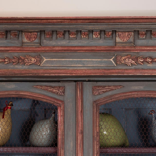 French French Painted Bibliotheque For Sale - Image 3 of 10