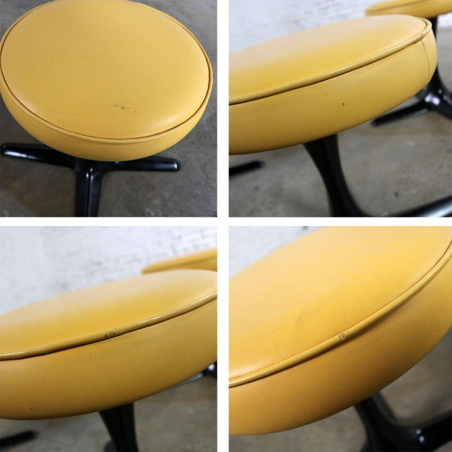 Mid Century Modern Burke Division for Brunswick Tulip Style Swivel Low Stools Set 5 For Sale - Image 10 of 12