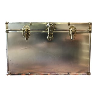 Hollywood Regency Brass Trunk