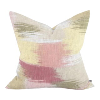 Kenneth Ludwig Chicago Gleam Coral Pillow For Sale