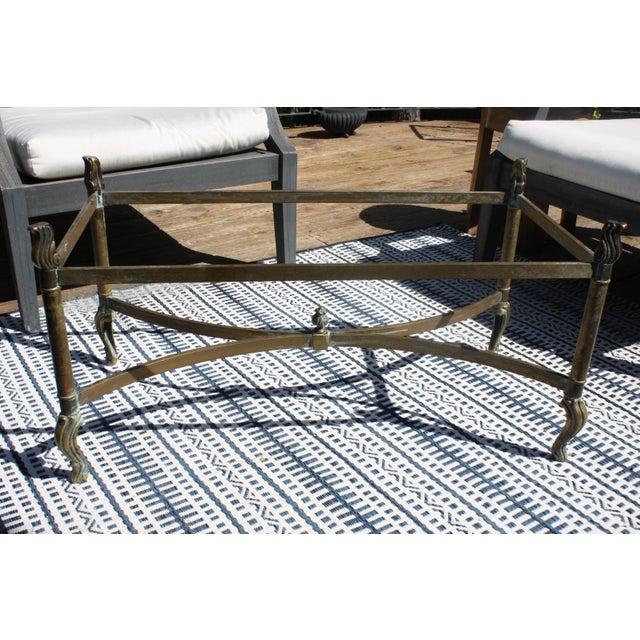 Mcm Italian Pee Br Rectangular Coffee Table Base Image 2 Of 11