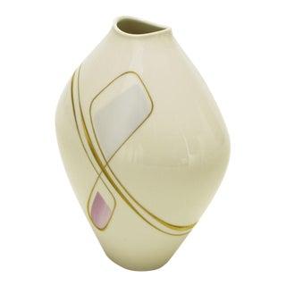 Heinrich Porcelain Vase With Gilt, Lavender & Sky Blue Details For Sale