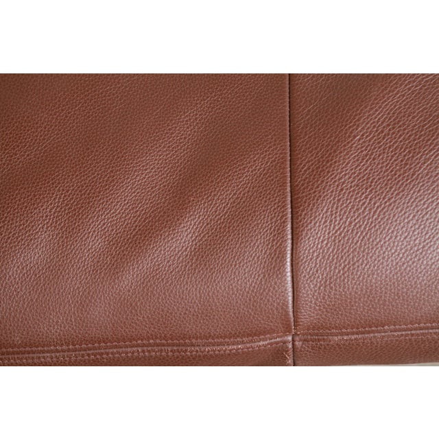 1970s DeSede Ds169 Brown Leather Convertible Sofa For Sale - Image 5 of 12