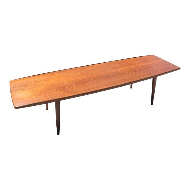 1960s Mid Century Modern Teak Surfboard Coffee Table Chairish