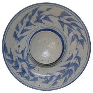 Stoneware Serving Bowl With Sauce Bowl