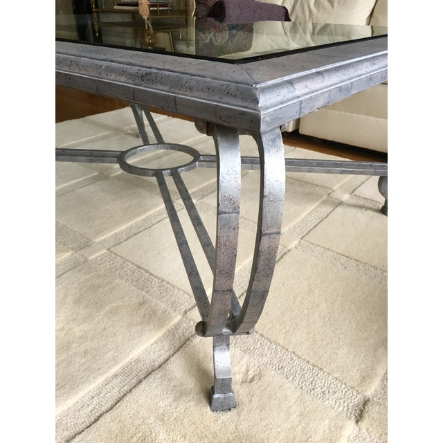Metal Finish Glass Cocktail Table - Image 6 of 8