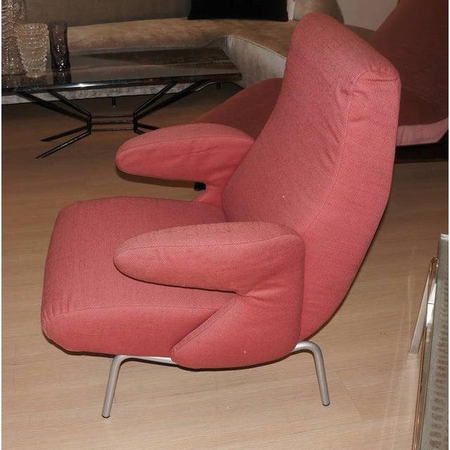 "Arflex Carboni for Arflex ""Dolphin"" Lounge Chair For Sale - Image 4 of 6"