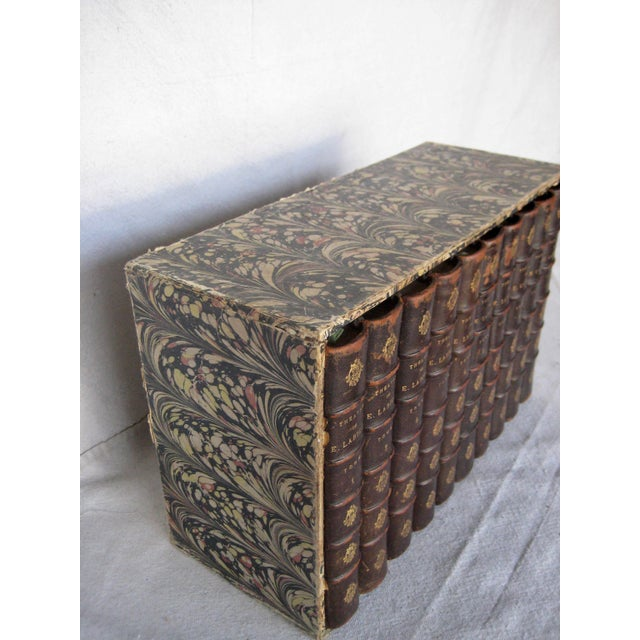 Late 19th Century French Leather Books - Set of 10 For Sale - Image 4 of 12