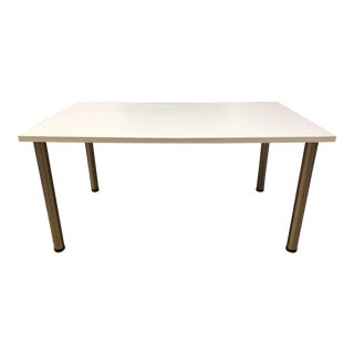 Murra-Me White Laminate + Metal Desk For Sale