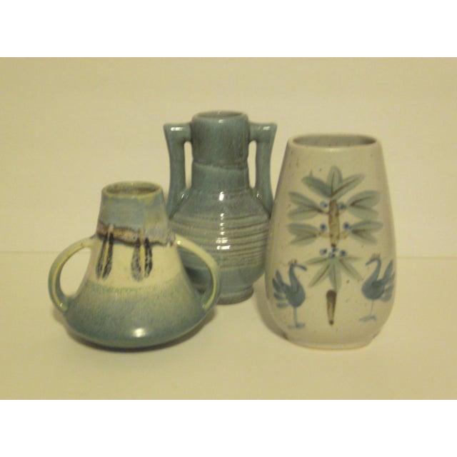 Vintage Aqua Colored Vases - Set of 3 - Image 2 of 11