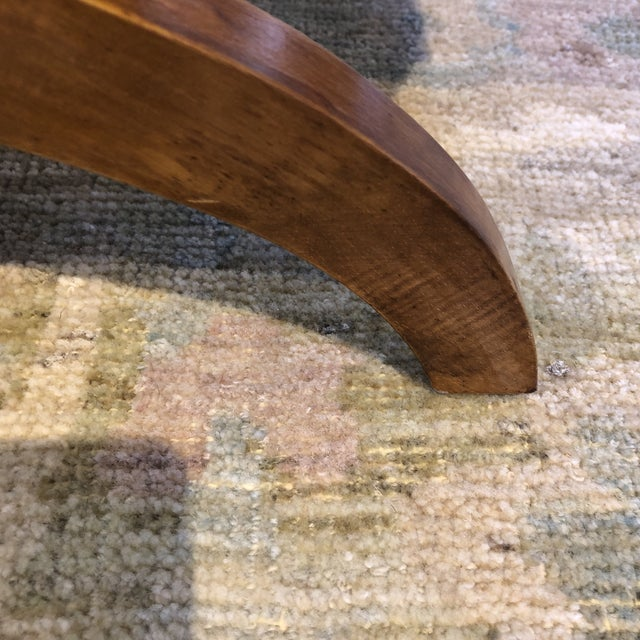 Italian Upholstered Walnut Bench For Sale - Image 9 of 11