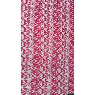 3 Yards Pink Cotton Velvet Ikat Fabric
