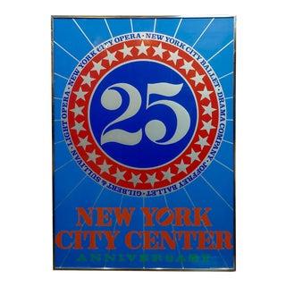 "Robert Indiana ""New York City Center 25th Anniversary"" Silkscreen Poster, 1968 For Sale"
