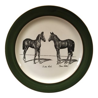 "Vintage Gordon Rettew ""Future Rivals"" Equestrian Decorative Plate"