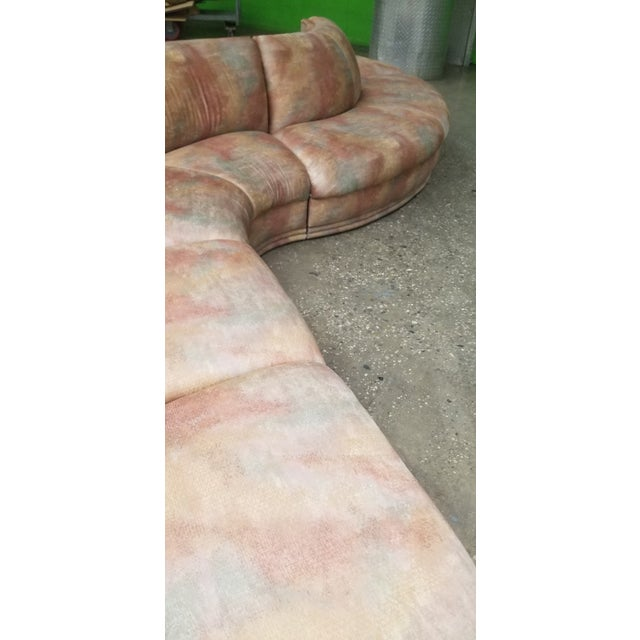 1980s 1980's Vladimir Kagan Serpentine 5 Piece Sectional Final Price For Sale - Image 5 of 7