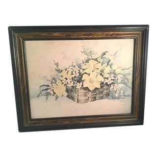 Vintage Floral Still Life Art Print by E. Carpenter For Sale