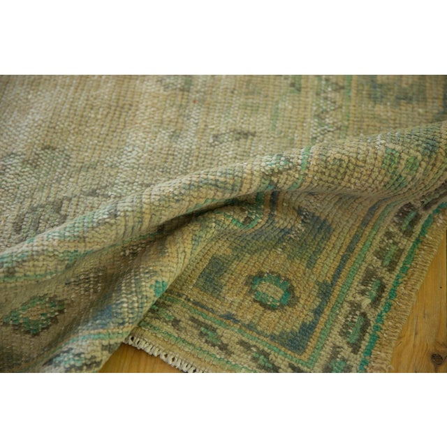 """Vintage Distressed Oushak Carpet - 5'8"""" X 8'3"""" For Sale In New York - Image 6 of 12"""