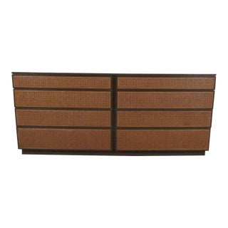 Directional Cane Front Mid-Century Dresser For Sale