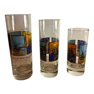 Mid-Century Van Gogh Shot Glasses - Set of 3