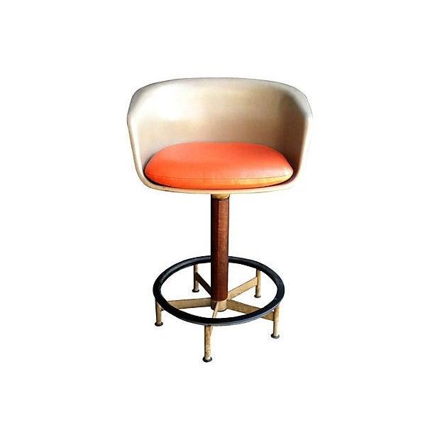 Saarinen Style Swivel Bar Stool By Burke - Image 1 of 6