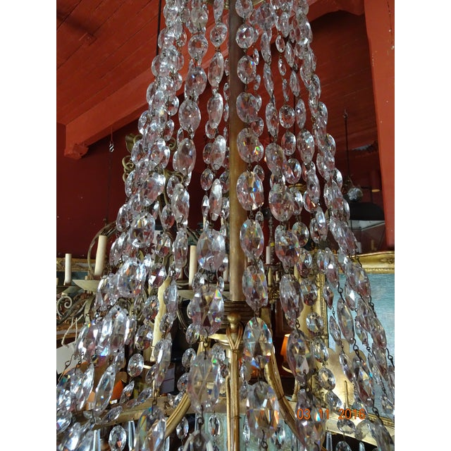 19th Century French Empire Crystal Chandelier For Sale In New Orleans - Image 6 of 12