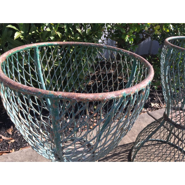 1960s Vintage French Hourglass Wire Planters- A Pair For Sale In Nashville - Image 6 of 7