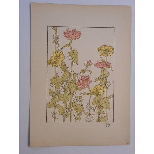 Art Nouveau Botanicals Prints - Pair - Image 3 of 4