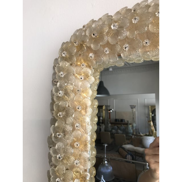 Murano Gold Daisy Mirror For Sale - Image 4 of 5