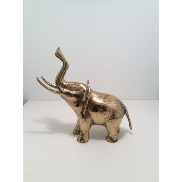 Mid-Century Brass Elephant Figurine - Image 2 of 4