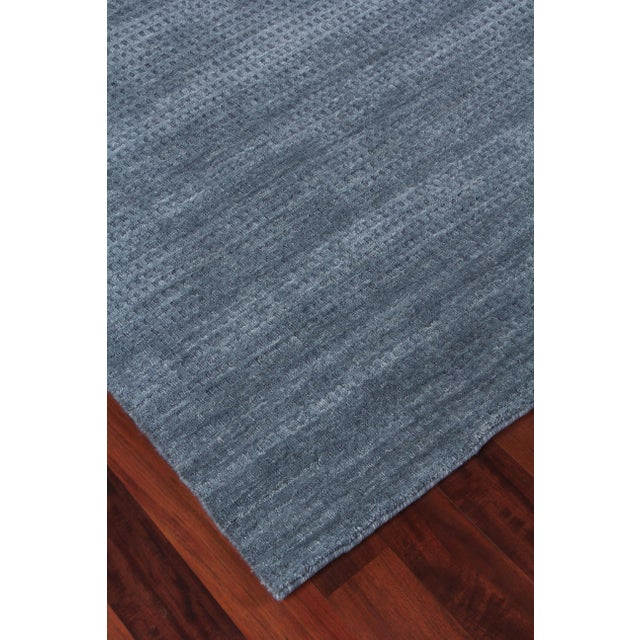 Exquisite Rugs Worcester Handwoven Wool Denim Blue - 6'x9' For Sale In Los Angeles - Image 6 of 8