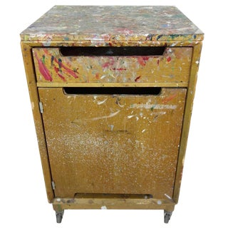 Paint Splattered Cabinet From an Artist Studio