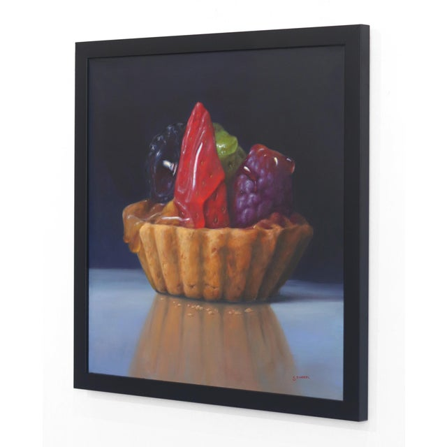 """""""Strawberry Tartle"""" Framed Original Photorealistic Oil Painting by Stuart Dunkel For Sale In Los Angeles - Image 6 of 10"""