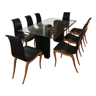 Artedi Dining Table and Roche Bobois Chair Set For Sale