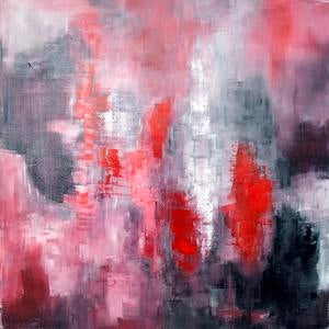 Abstract acrylic painting on canvas. Signed by artist Dolores Tema 2014.