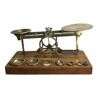 Antique S. Mordan of London Parcel Post Letter Scale With Weights For Sale