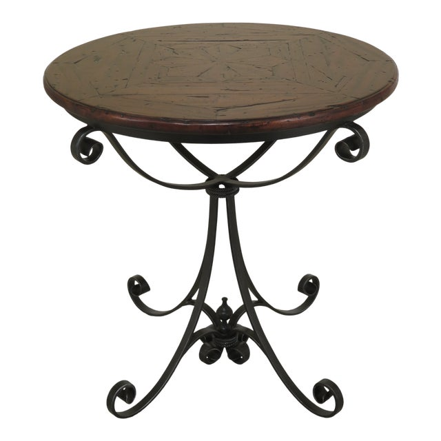 Traditional Theodore Alexander Castle Bromwich Round Occasional Table For Sale