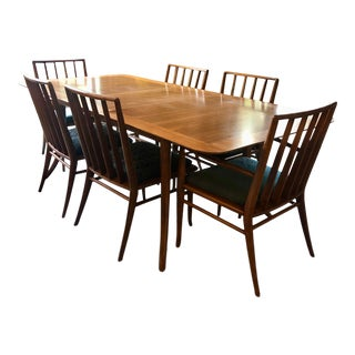 Vintage 1940's Robsjohn-Gibbings Dining Set - Set of 8 For Sale