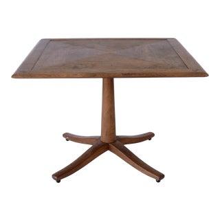 1960s Danish Modern Barney Flagg Drexel Parallel Square Side Table For Sale