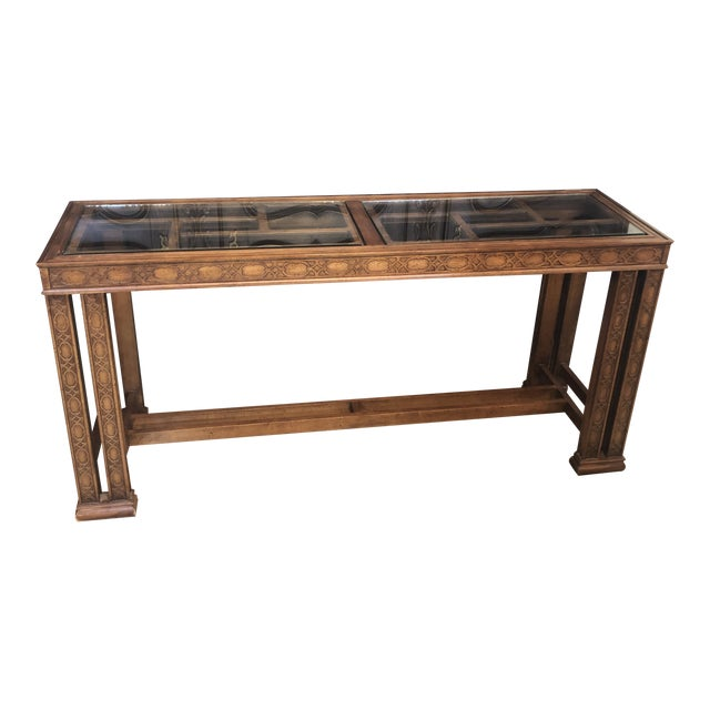 Vintage Chinoiserie Henredon Console Table For Sale
