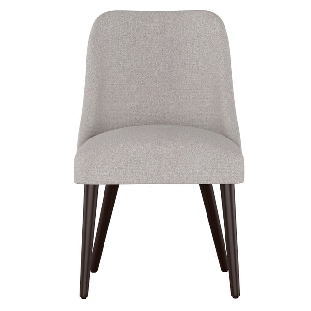 Textile Rounded Back Dining Chair in Aiden Platinum For Sale - Image 7 of 7