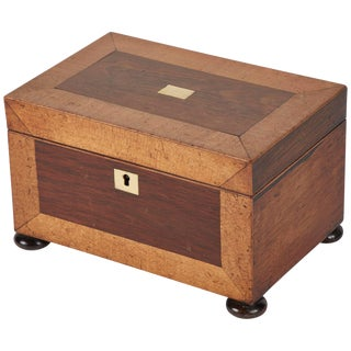 Early 19th Century English Boxwood Tea Caddy For Sale