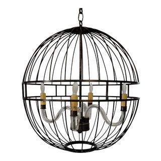 Paul Marra Design Oil Rubbed Bronze Metal Sphere Chandelier For Sale
