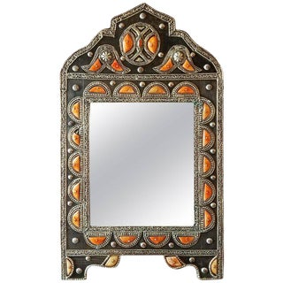 Kasbah Arched Moroccan Metal Inlaid Mirror, Marrakech