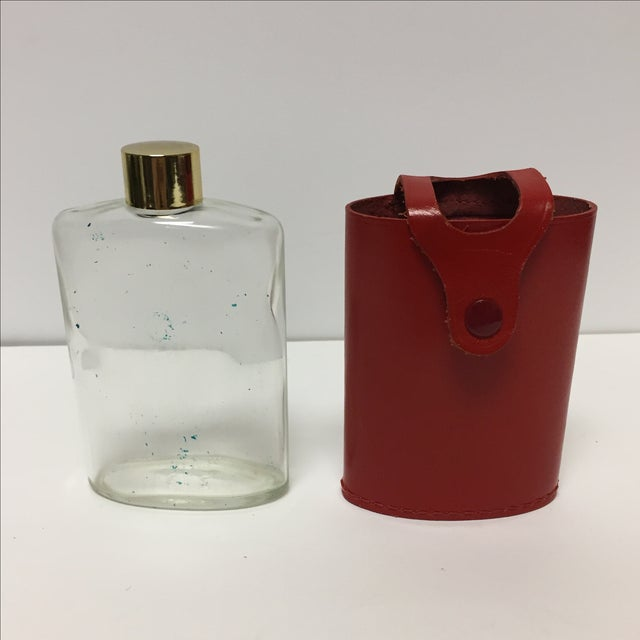 Vintage Flask In Red Leather Case - Image 5 of 5
