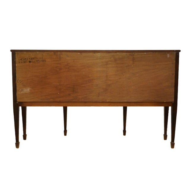 20th Century Hepplewhite Thomasville Furniture Mahogany Collection Demilune Sideboard/Buffet For Sale - Image 11 of 13