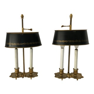 French Bouillette Lamps - a Pair For Sale